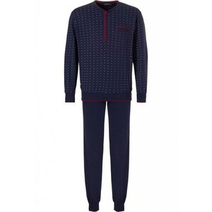 Pastunette – Men's – Pyjama – 23182-627-4 – Marroon Blue
