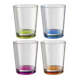 Brunner multicoloer glas 30cl set (4DLG)