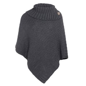 Poncho Nicky Knit Factory Antraciet