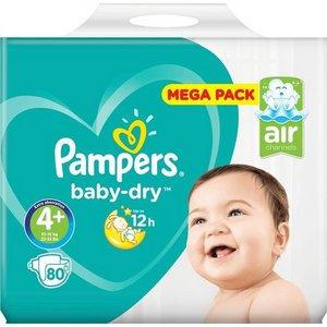 Pampers nr4+ Baby-Dry 80x