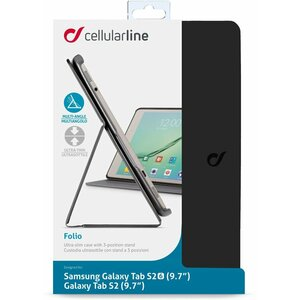 Cellularline FOLIOGTABS21697K tabletbehuizing 24,6 cm (9.7'') Folioblad Zwart