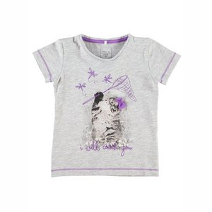 Name-it Meisjes Tshirt Eja Grey Melange