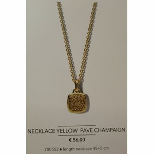 Necklace Yellow Pave Campaign