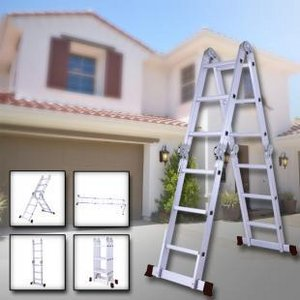 Herzberg HG-5002: Multifunctionele Aluminium ladder