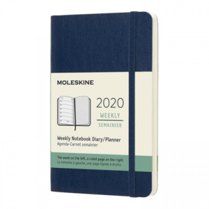 Moleskine Agenda 2020 POCKET WEEKLY NOTEBOOK BLAUW