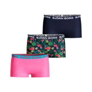 Björn Borg Shorts for Girls 3P Cotton Stretch exotic roos blauw groen