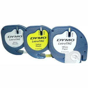 Dymo labelprinter-tapes LetraTag assorted 3 pack