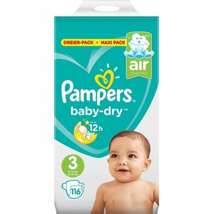 Pampers nr 3 Baby-Dry  116x