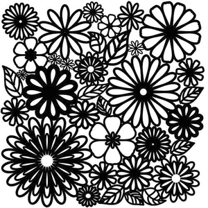 TCR Template Flower Frency - Bloemen en blaadjes