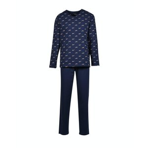 Woody Heren Pyjama Donkerblauw Berggeit All Over 202-1-MVL-Z/968