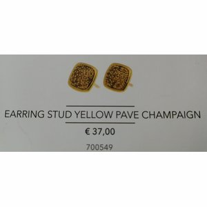 Earring Stud Yellow Pave Champaign