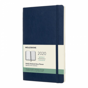Moleskine Agenda 2020 large weekly notebook blauw
