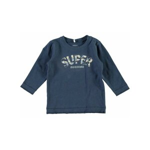 Name-It Blauwe Jongens Newborn Tshirt Nitfebs