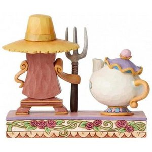 Disney Traditions - Workin Round The Clock Mrs Potts and Cogsworth