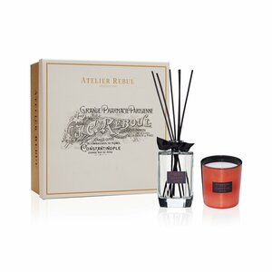 Saffron Oud Fragrance Sticks and Scented Candle Giftset