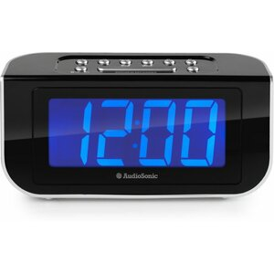Wekkerradio Jumbo Blauw display CL-1475