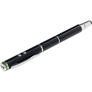 Leitz 4-in-1 Stylus Met Pen Soft Tip Laser Pointer En Led Lamp Zwart