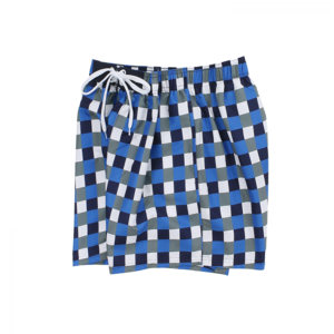 Olympia - Blue Checkered - Zwemshort - 36004 - Blue Print