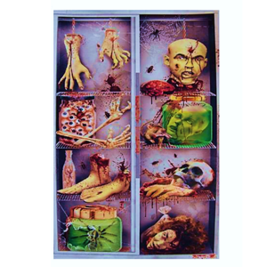 Deur Doek Horror Koelkast | Door Cover Horror