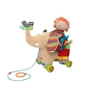 Dolce Toys Knuffel - Pull Along Elephant