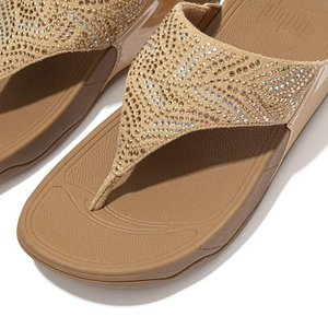 FitFlop Teenslippers DM4 Lulu Crystal Feather wide fit blush