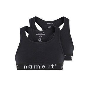 Name-it Short Top 2p Solid Black
