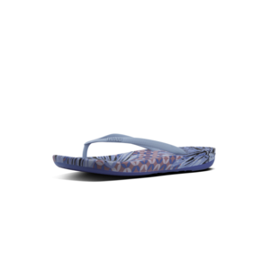 FitFlop Teenslippers Iqushion K40 Royal Blue Daisy Print