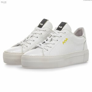 Floris van Bommel Women 85297/06 White Print Leather