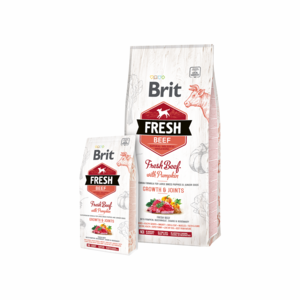 Brit Fresh Beef with Pumpkin for Large Breed Puppies And Junior Dogs 12 kg