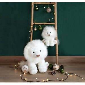 Knuffel witte leeuw 28cm Histoures D'Ours