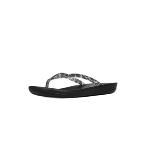 FitFlop Teenslippers IQushion E54 zwart leopard