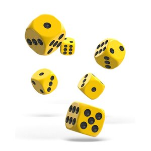 Dice D6 Dice 16 mm Solid - Yellow (12)