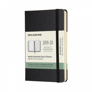 Moleskine Agenda 2019-2020 POCKET WEEKLY NOTEBOOK zwart