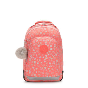 Kipling Dagrugzak Class Room Hearty Pink Metal