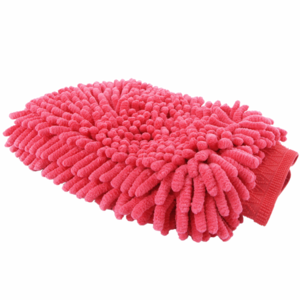 Chenille Microfibre Wash Mitt Red-Pink