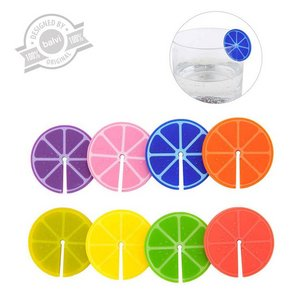Glasmarker Fruit Party x8 Silicone
