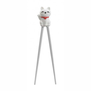 HEB Lucky Cat Chopsticks 22cm White BSC1/WH 6/24