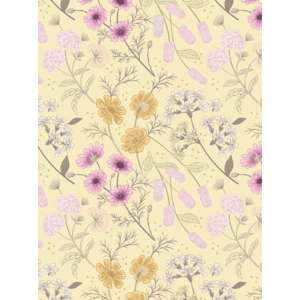 Lewis & Irene - Garden Floral on Pale Yellow - Botanic Garden