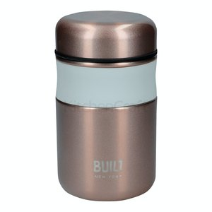 Built 490ml Rose Gold Food Flask - Snack to go