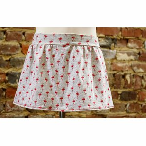 Skort (rok en short in 1) flamingo maat 116