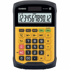 Casio WM-320MT Pocket Rekenmachine met display Zwart, Geel calculator