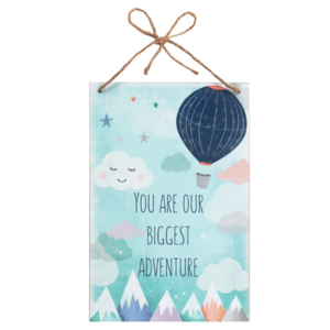 Decoratiebord - You are our biggest adventure - Baby - Hout - 20x30cm