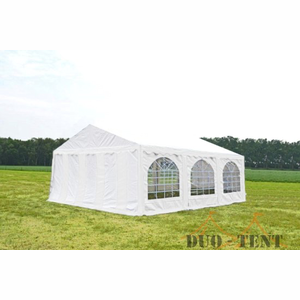 Partytent 6x6 Premium PVC Brandvertragend Wit