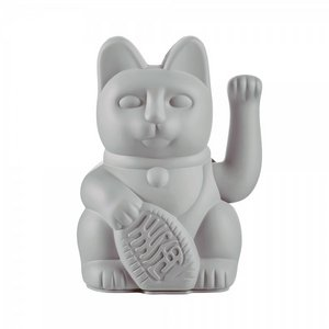 Donkey Products Lucky Cat (waving cat) Grey