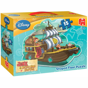 Jumbo Disney Jake & The Neverland Pirates - Vloerpuzzel - 15 stukjes