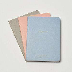 Notebook Set A6 - Blush, Powder Blue & Grey