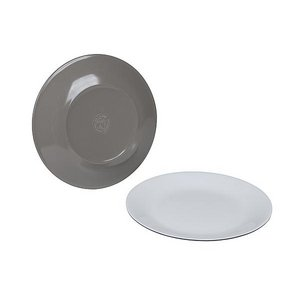 Bo-Camp Ontbijtbord 100% Melamine Ø 21,5 cm - Two-tone taupe