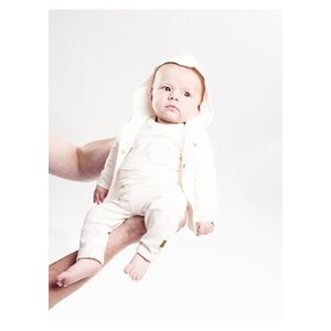 Bess Baby Unisex Cardigan Reversible Striped Off White