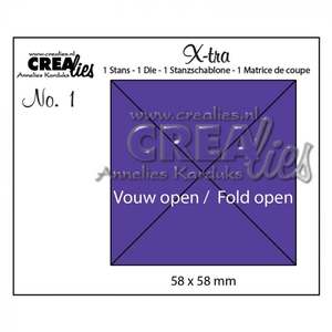 Crealies - Xtra parts 1 vierkant open vouw