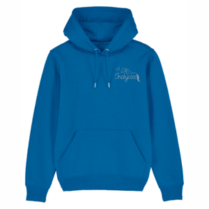Game over kids hoodie (Blauw/grijs) 12-14 Royal blue + glitter